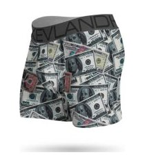 cueca boxer kevland dólares verde