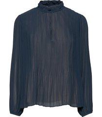 lady ls blouse 11185 blouse lange mouwen blauw samsøe samsøe