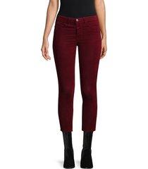 l'agence women's margot high-rise velvet skinny jeans - greystone - size 24 (0)