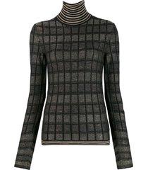 antonio marras slim-fit check sweater - black