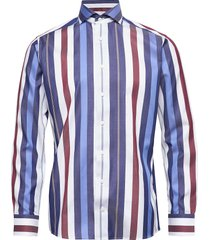 bold striped cotton-tencel shirt skjorta casual multi/mönstrad eton