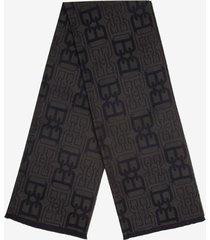b-chain jacquard scarf grey 1