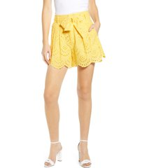 women's 7 for all mankind eyelet shorts