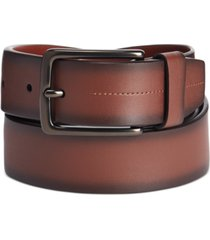 perry ellis men's burnished-edge belt