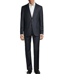 bedford-fit tonal check wool suit