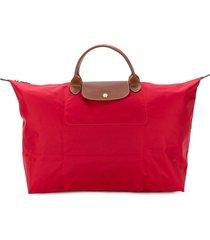 longchamp large le pliage travel bag - red