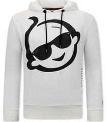 sweater local fanatic hoodie print zsal creme