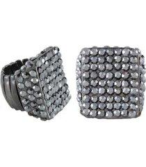 anel armazém rr bijoux quadrado cristais tamanho 18