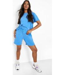 overdye sweat shorts, blue
