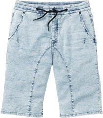 bermuda di jeans in felpa regular fit (blu) - rainbow