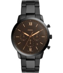 fossil mens neutra chrono black stainless steel bracelet