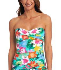 la blanca tropical twist bandeau tankini top women's swimsuit