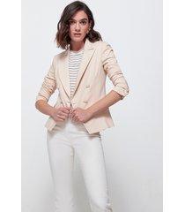 motivi giacca doppiopetto con bottoni in tono donna beige