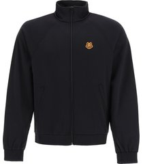 kenzo zip-up tech jersey sweatshirt
