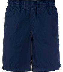 alexander mcqueen side-stripe swim shorts - blue