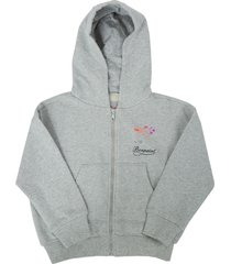 bonpoint x the webster logo hooded sweatshirt grey