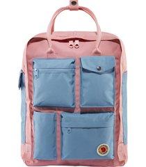 fjallraven samlaren kanken limited edition water resistant backpack in pink-air blue at nordstrom