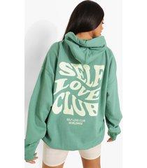 gedraaide self love club hoodie, abyss green