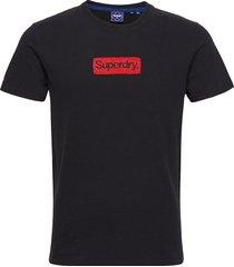 cl workwear tee 220 t-shirts short-sleeved svart superdry