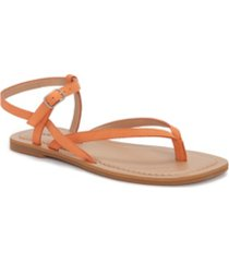 lucky brand women's bylee square-toe thong flat sandals women's shoes