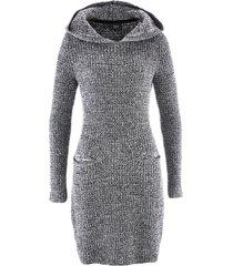 abito in maglia con cappuccio (nero) - bpc bonprix collection