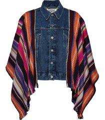 lmc trucker poncho lmc summer jeansjacka denimjacka multi/mönstrad levi's made & crafted