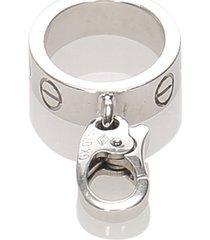 cartier love pendant silver sz: