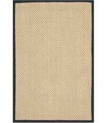 "safavieh natural fiber maize and black 2'6"" x 4' sisal weave rug"