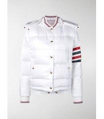thom browne 4-bar stripe padded bomber jacket