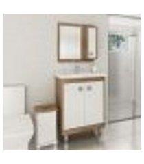 conjunto para banheiro branco argel lilies móveis