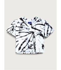 camiseta crop tie dye para mujer freedom 01812