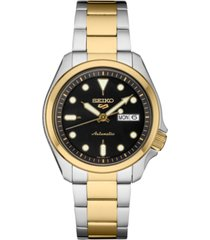seiko men's automatic 5 sports two-tone stainless steel bracelet watch 40mm