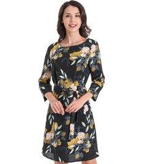 vestido floral lazo negro nicopoly
