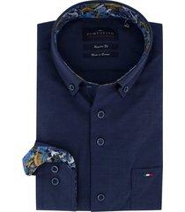 donkerblauw overhemd portofino regular fit