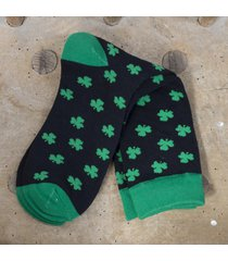 all over shamrock men's socks