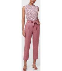 loft tie high waist linen cotton tapered pants