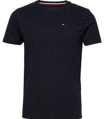 classic pocket tee t-shirts short-sleeved blå tommy hilfiger
