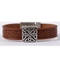 the braden celtic cuff bracelet brown one size