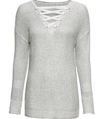 maglione  con stringatura (bianco) - rainbow
