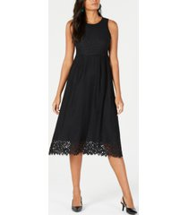 alfani petite lace midi dress, created for macy's