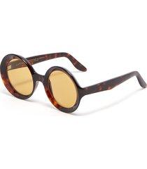'carolina' round acetate frame sunglasses