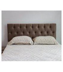 cabeceira casal 140cm para cama box sofia corino marrom - ds móveis