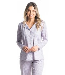 pijama abotoado longo larissa