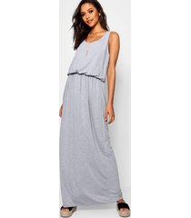 racer back maxi dress, grey marl