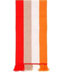burberry striped logo scarf