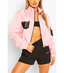 pocket detail shell windbreaker jacket, blush