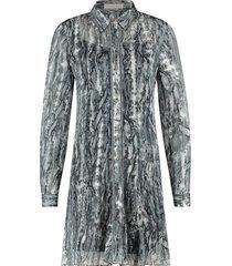 jurk met print celeste  grijs