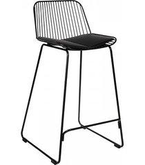 stołek barowy metalowy dolly czarny