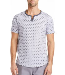 tallia men's slim fit short sleeve henley t-shirt with free matching mask