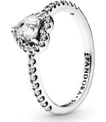 anel coração elegância eterna